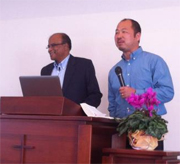 Adrian De Visser speaking at a pastors' retreat in Japan