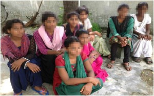 In October 2013, these 8 minors were saved after being trafficked by their parents. (Image courtesy Bright Hope)